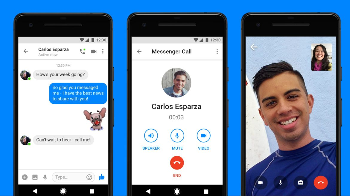 facebook messenger lite suporta de acum chat video