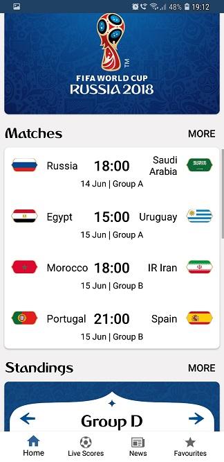 aplicatia oficiala, campionatul mondial de fotbal 2018 din rusia