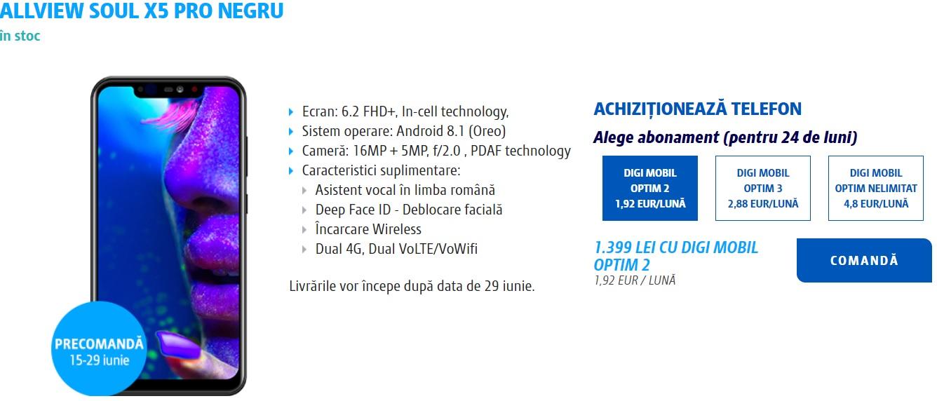 allview soul x5 pro, mai ieftin cu abonament la digimobil