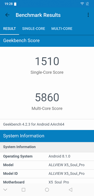 review - teste benchmark si acumulator, allview soul x5 pro