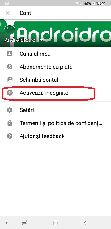 youtube mod incognito, urmareste clipurile in mod secret