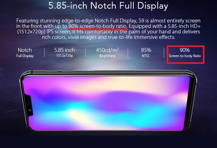 screen to body ratio