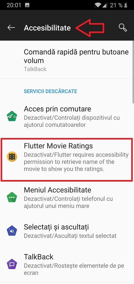 activare rating imdb in aplicatia netflix pe telefon