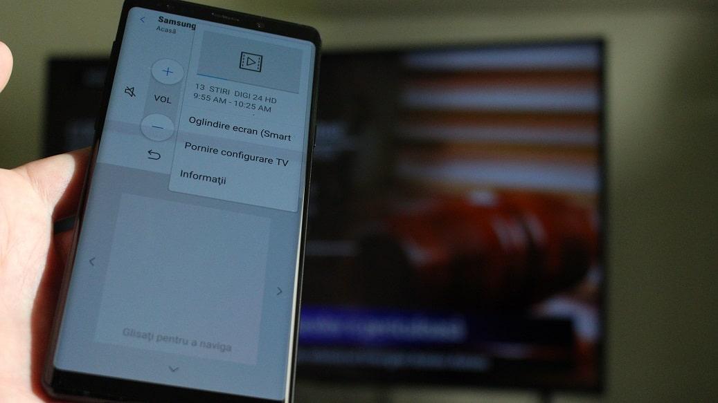 conectarea oricarui telefon la un smart tv samsung