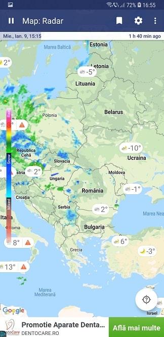 aplicatie pentru prognoza meteo -