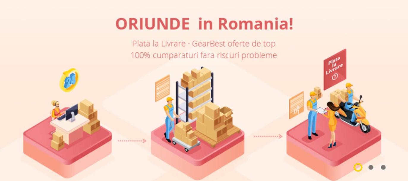 plata la livrare in romania, in cazul gearbest si site nou