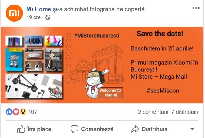 Primul magazin Xiaomi in Bucuresti, din 20 aprilie 2019