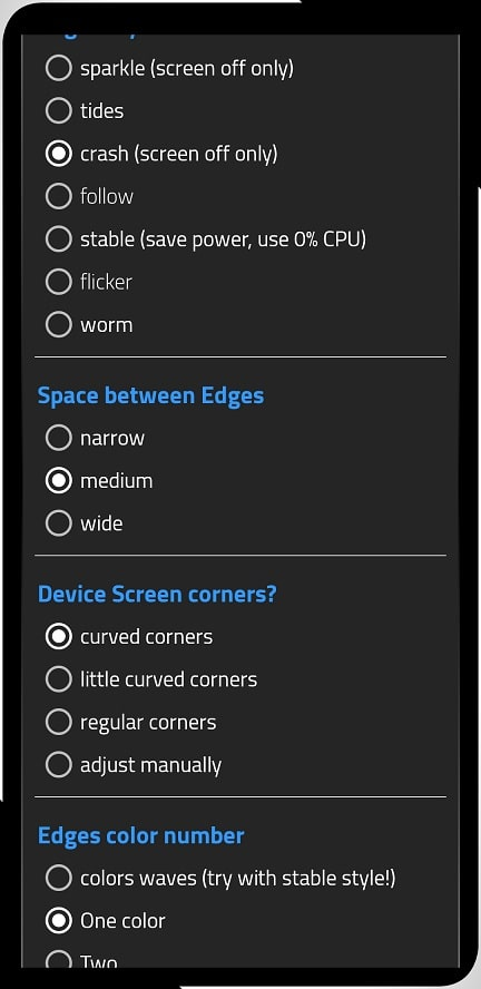 Aplicatia Always On Edge, customizare extrema pentru ecran