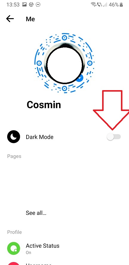 Facebook Messenger si Dark Mode, inclusiv in Romania