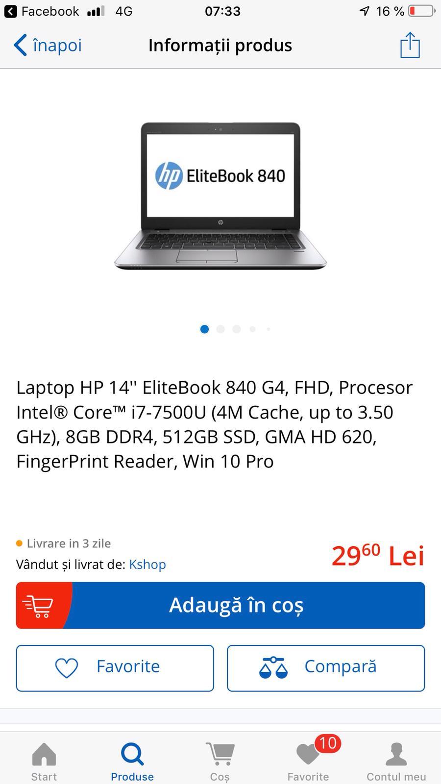 emag market si preturile gresite, laptopuri la numai 30 de lei