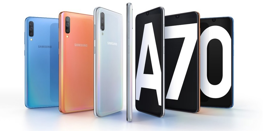 Samsung Galaxy A70 cu display Infinity-U, pret si specificatii galaxy a70