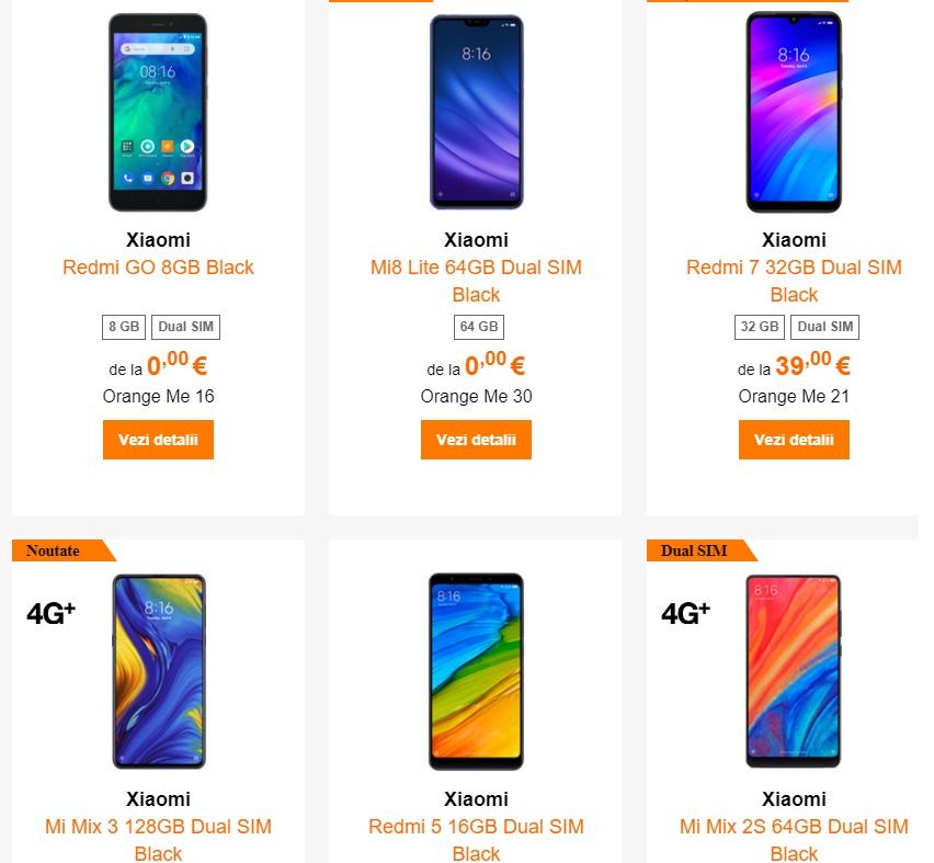 Xiaomi Redmi 7, gratuit la Orange cu abonament de 28 euro