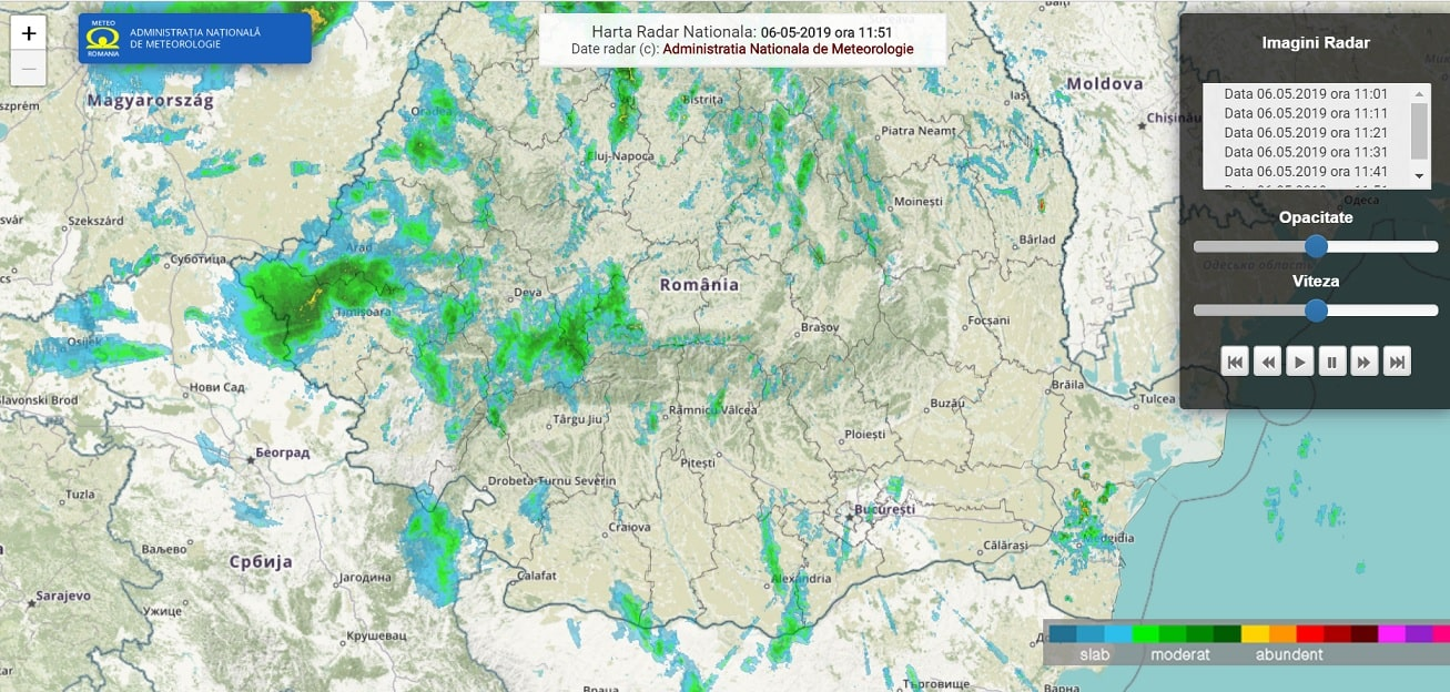 aplicatii radar meteo, fulgere in timp real pe telefon, dsu 2019