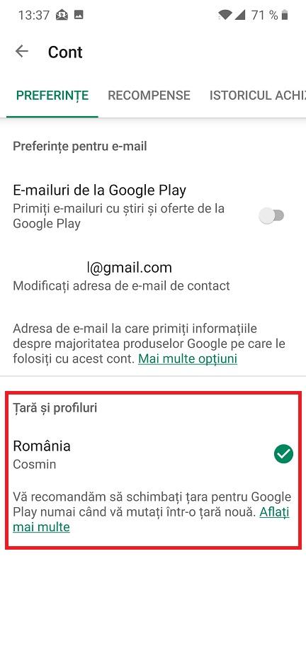 aplicatia nu este disponibila in tara dumneavoastra