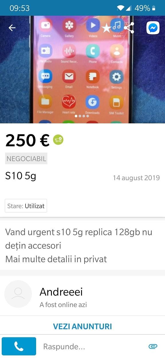 samsung s10 ieftin