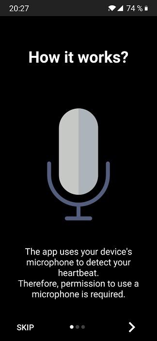 aplicatia ce foloseste microfonul telefonului pentru masurarea pulsului