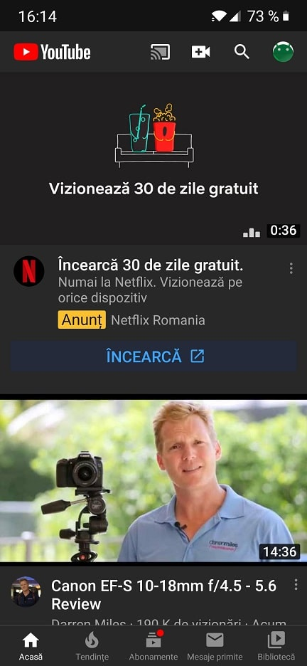 activare/dezactivare youtube/google play dark mode (mod intunecat)
