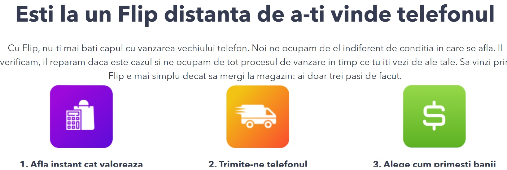 flip.ro, website nou ce-ti cumpara telefonul rapid, apoi il revinde