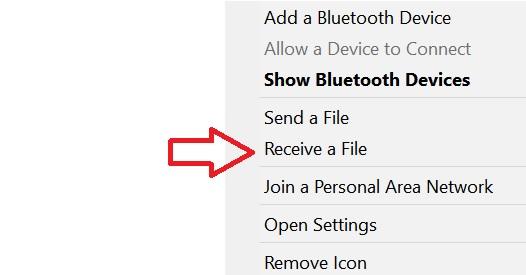 transfer poze si fisiere de pe telefon pe laptop prin bluetooth
