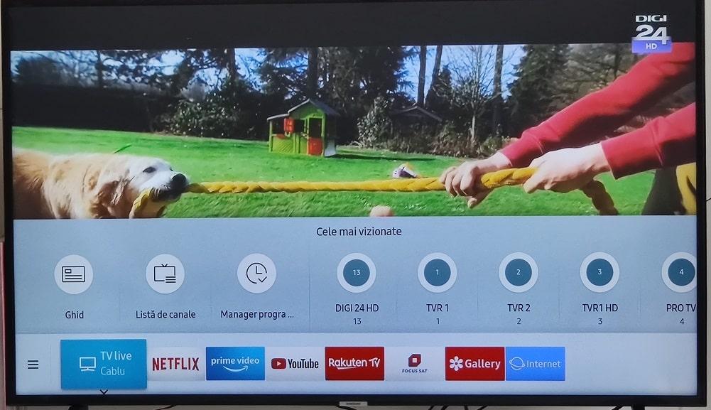 cum activezi mod intunecat/dark mode pe smart tv samsung