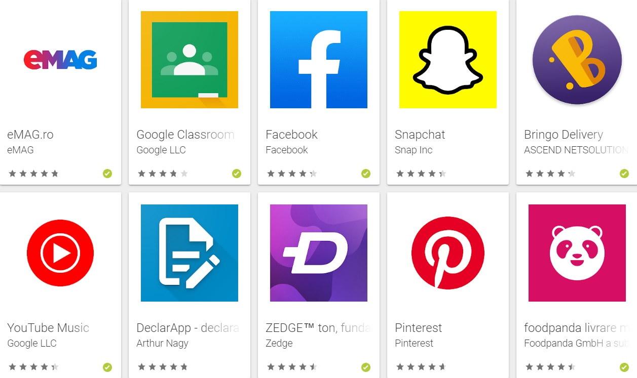 topul aplicatiilor android