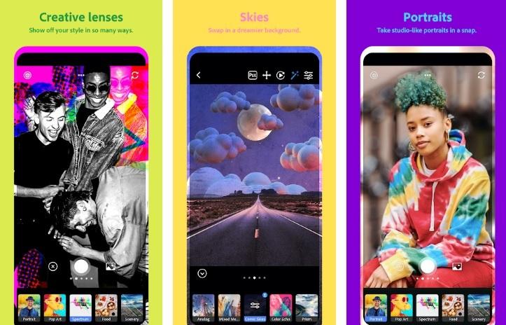 Aplicatia de camera Photoshop Camera, gratuita in Google Play