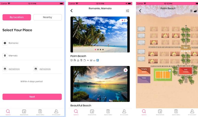 Aplicatia Smart Beach, rezervare de sezlonguri de pe telefon