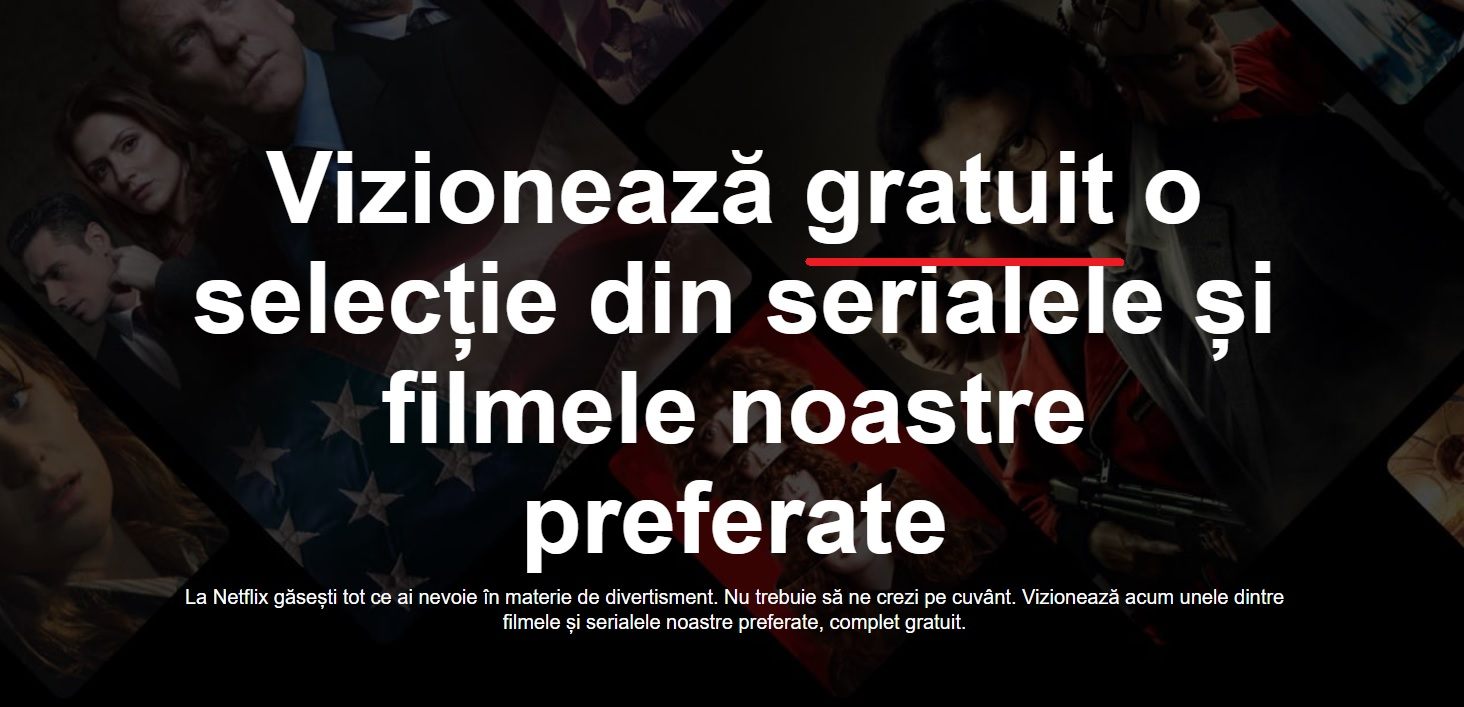 Cum sa vezi Netflix gratuit in sectiunea watch free si in Romania