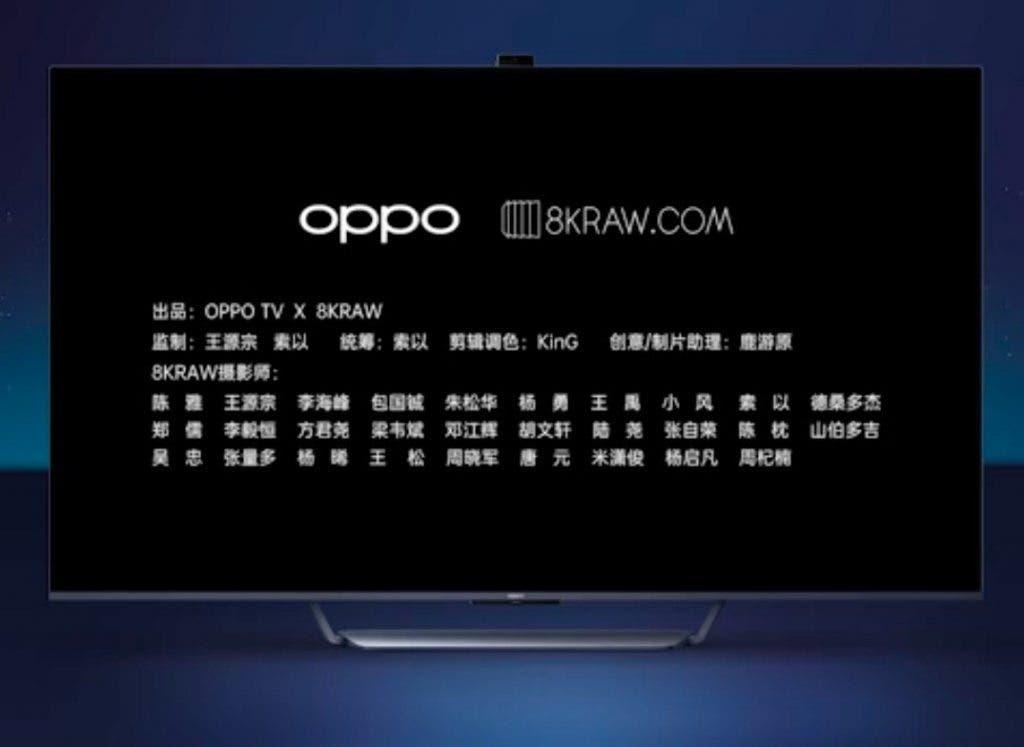 Camera de tip pop-up pe primul televizor OPPO  (OPPO TV)