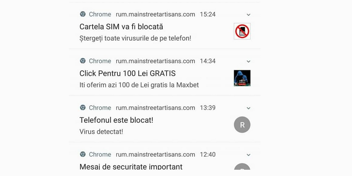 Virus detectat telefonul este blocat